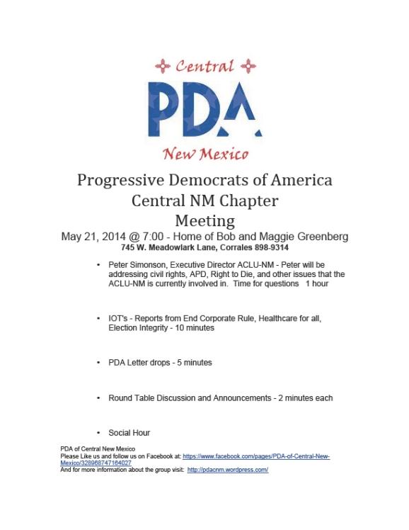 PDA Meeting 5-21